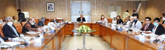 ISLAMABAD: October 19 - Advisor to the Prime Minister on Commerce and Investment, Abdul Razak Dawood chairing the 4th meeting of the Steering Committee on Pakistan Regulatory Modernization Initiative (PRMI), in the Board of Investment. APP
