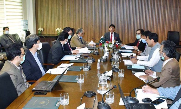 ISLAMABAD: October 28 - Federal Minister for IT and Telecommunication Syed Amin Ul Haque chairing Ignite Policy Committee meeting. APP