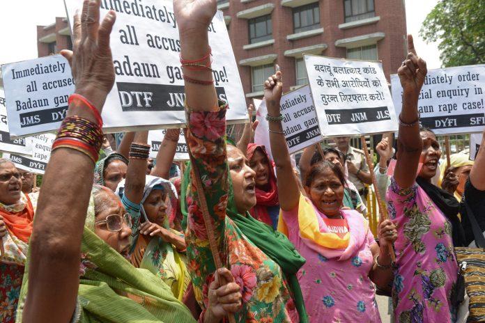 Dalit women protest