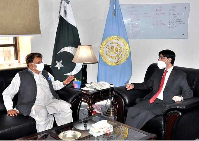 Moeed calls on AJK Prime Minister