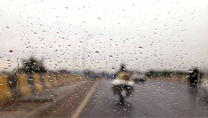 An attractive view of a rain drops on the vehicle's wind screen during rain