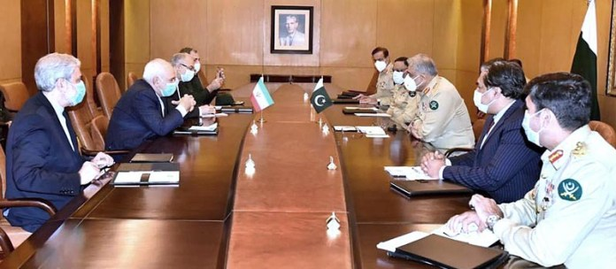 RAWALPINDI: November 11 - Foreign Minister of Iran Dr Mohammad Javad Zarif called on General Qamar Javed Bajwa Chief of Army Staff (COAS) at GHQ. APP
