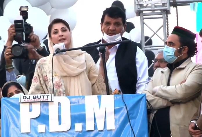 Bilawal at the PDM Peshawar rally on Nov 22