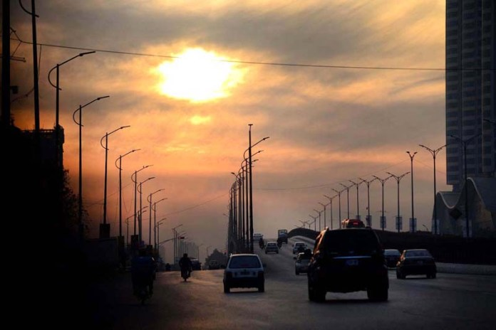 An attractive view of sunset over the skies of Federal Capital