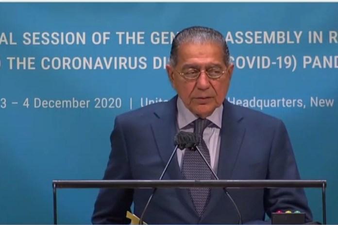 Ambassador Munir Akram addressing the ECOSOC Summit