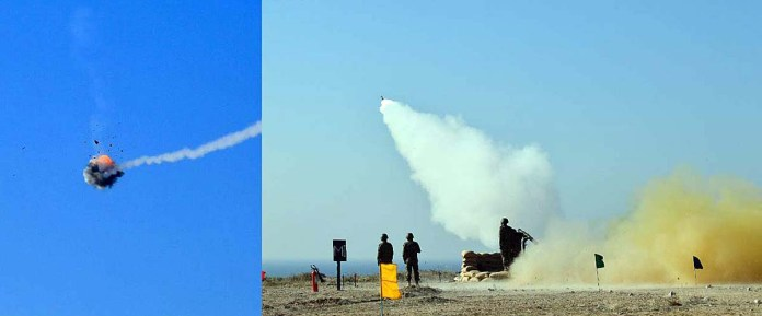 PN Air Defence units conduct live SAMs firing