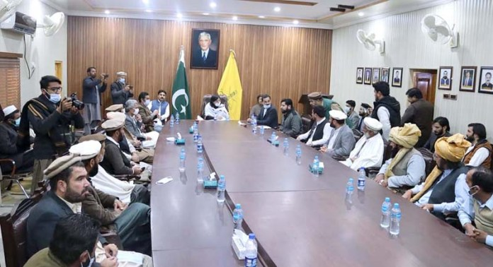 SAPM Dr. Sania Nishtar meets local tribes in a Jirga