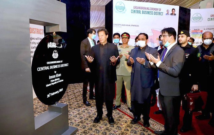 PM lays foundation-stone of first-ever Central Business District in Lahore