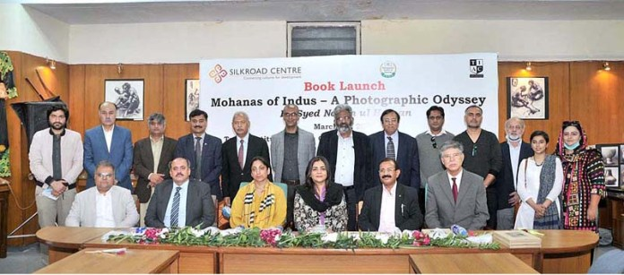 "Chief Guest Ghazala Saifi, Parliamentary Secretary National Heritage and Culture Division at launching ceremony book titled ""Mohanas of Indus – A Photographic Odyssey"" by Syed Najam ul Hassan"