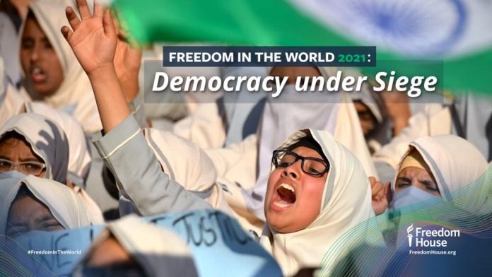 Freedom House downgrades India