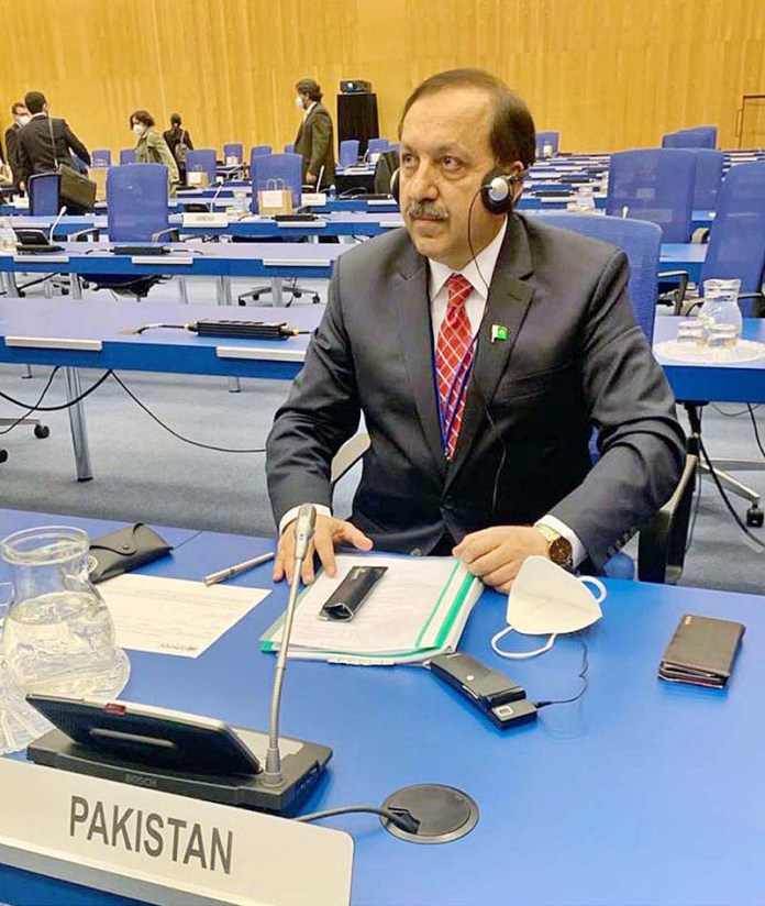 Secretary Ministry of Narcotics Control, Akbar Durrani, (TI)/ PAS representing Pakistan in Vienna, Austria, as head of the delegation of the Government of Pakistan to attend the 64th Annual Session of Commission on Narcotic Drugs