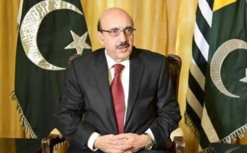 AJK President lauds UN report on human rights situation in IIOJK