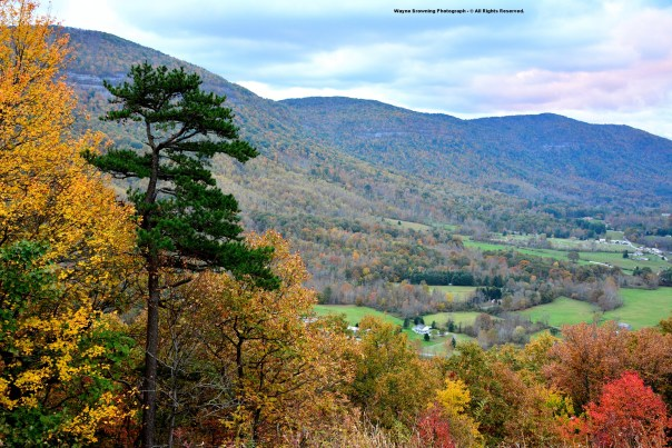 Autumn At Powell Valley Overlook of High Knob Massif