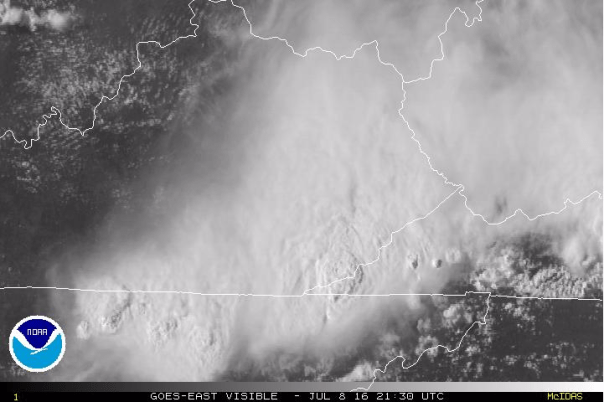 NASA Visible Image At 5:30 PM Friday - July 8, 2016