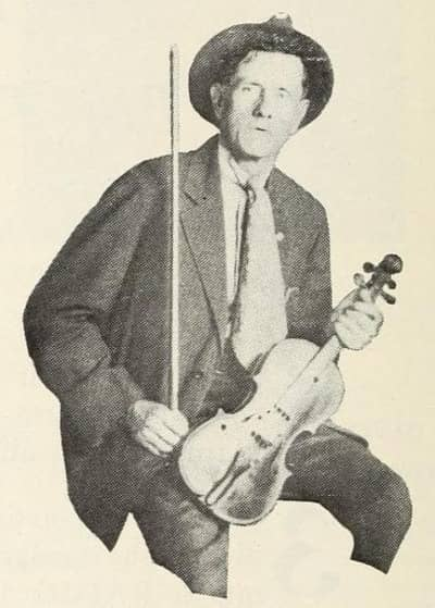 Promotional photo of Fiddlin' John from the April 14, 1923 issue of Talking Machine World.