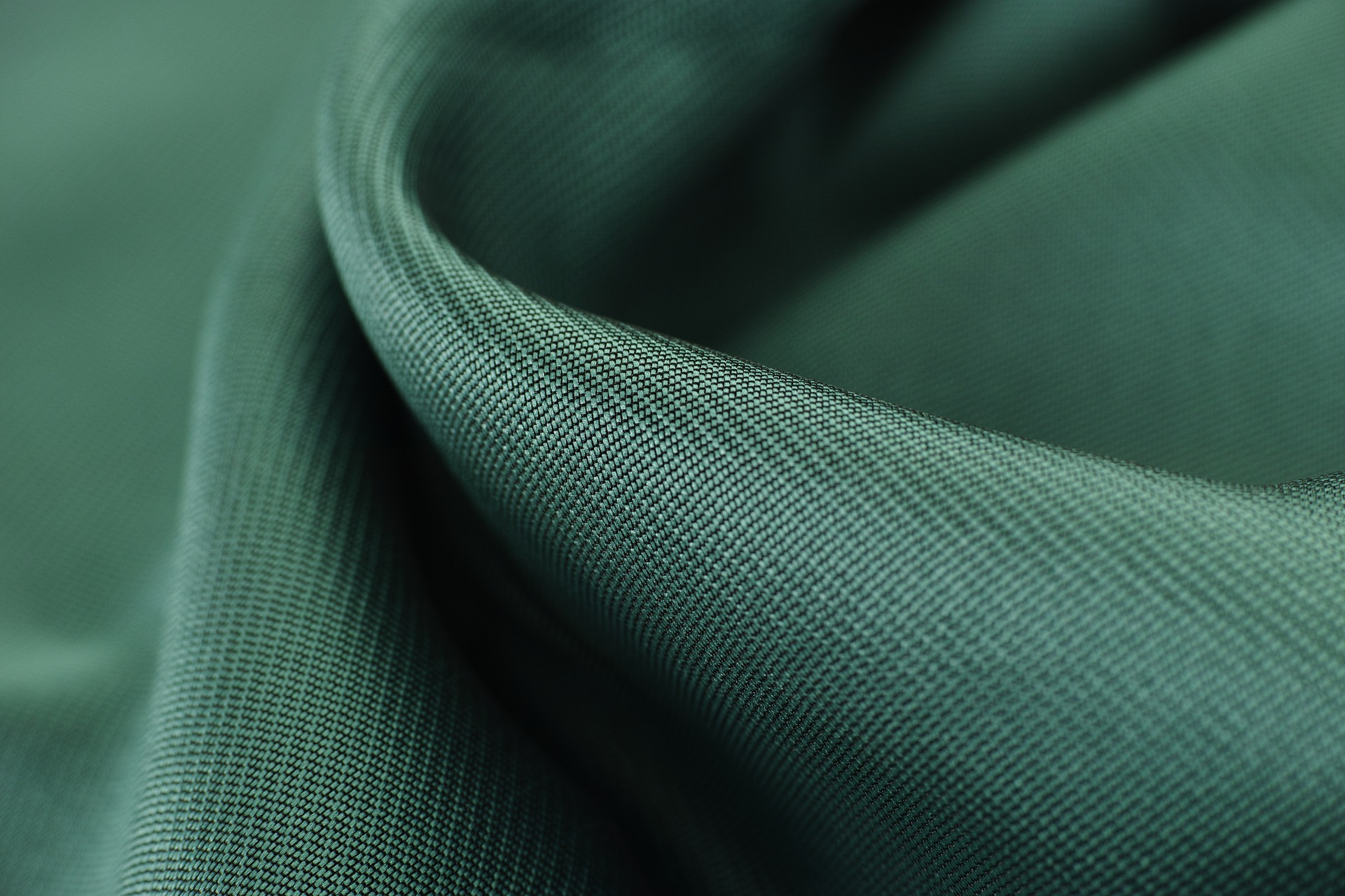 Textile Dark fabric with hint of green