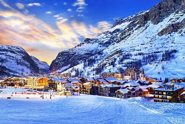 Val d'Isère au coucher du soleil