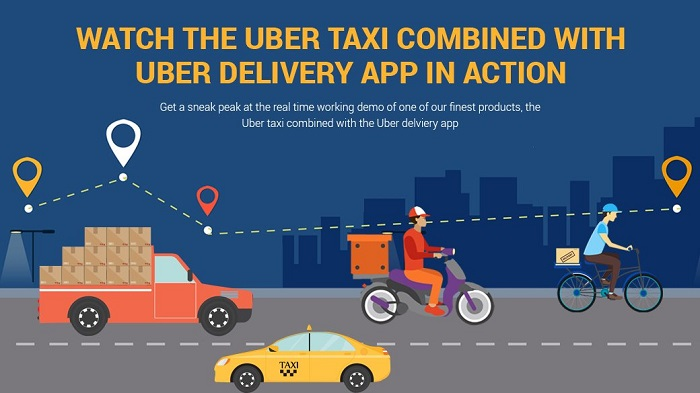 Parcel delivery and Ride booking is possible thru Ride plus