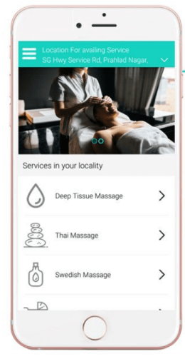 on demand massage app
