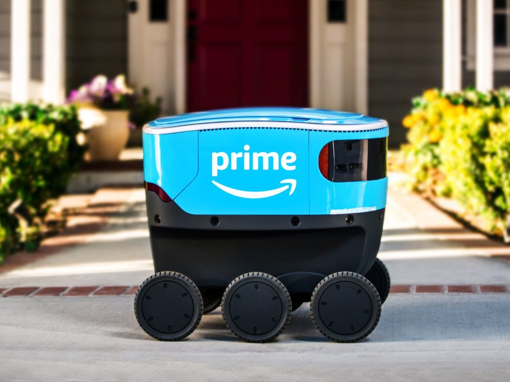 Amazon Rolls Out Its New Autonomous Package Delivery Robot :Amazon Scout