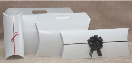 Pillow boxes are perfect for everything from gifts to garments
