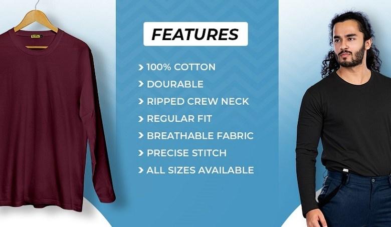 full sleeve t-shirts online