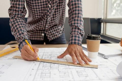 Blueprint of new building