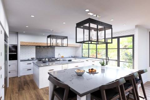 exterior rendering for real estate marketing
