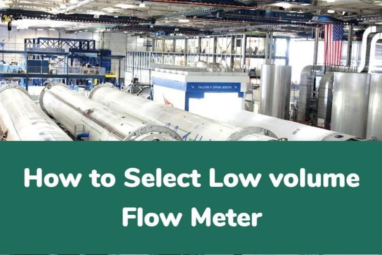 low volume flow meters