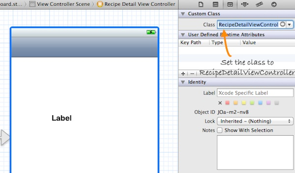 Storyboard Change View Controller Class
