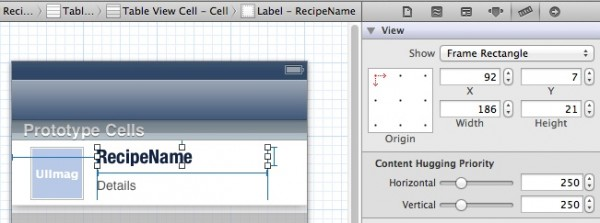 CustomTableView - Add Labels