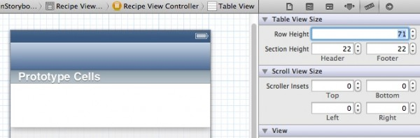 CustomTableView - Change Row Height