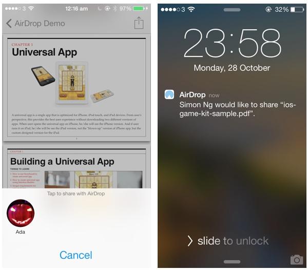 AirDrop Demo App Share PDF