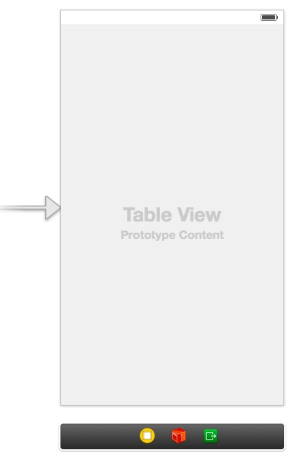 Drag a table view from Object Library