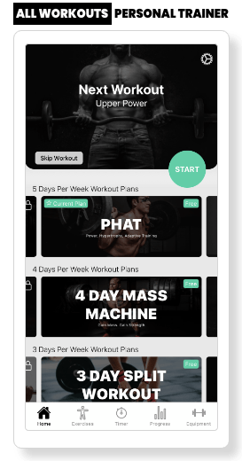 All Workouts Landing Page Image Upper Title