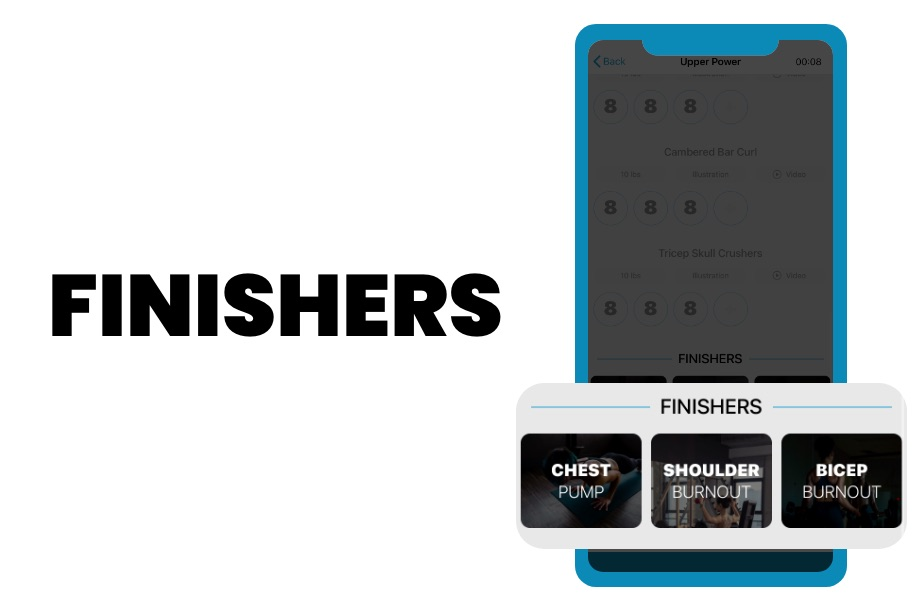 PHAT app finishers