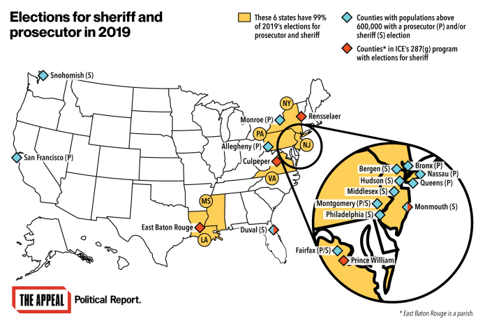 Elections for sheriff and prosecutor in 2019