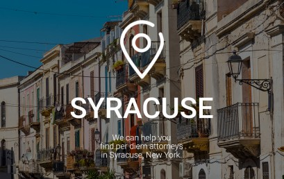 We Can Help You Find Per Diem Attorneys in Syracuse