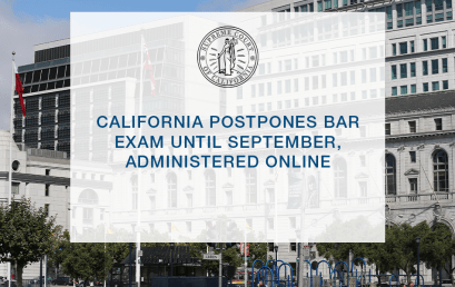 California Postpones Bar Exam Until September, Administered Online
