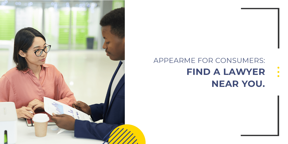 AppearMe for Consumers: Find a Lawyer Near You