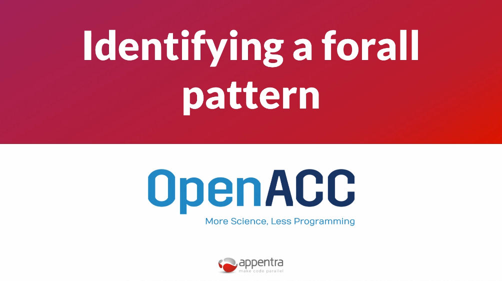 identify a forall pattern course