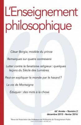 L'Enseignement philosophique - couverture 66
