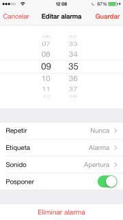 Poner canción en la alarma del iPhone