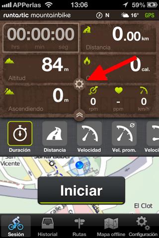 Ajustes app bicicleta de montaña