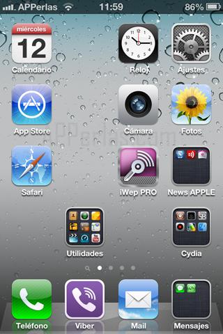 gestiona los iconos del iPhone