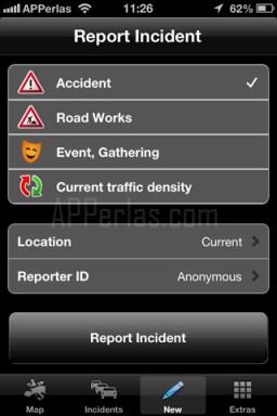 Reporta una nueva incidencia sobre el estado del tráfico