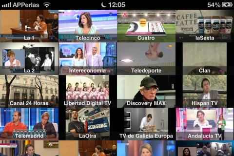 Guía de televisión en el iPhone