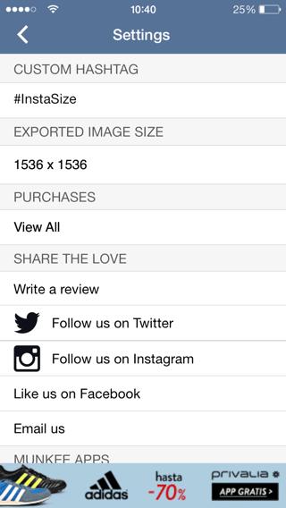 Configuración de fotos a tamaño completo