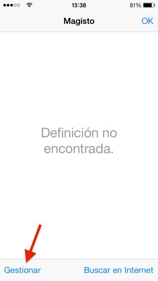 Los diccionarios del iPhone