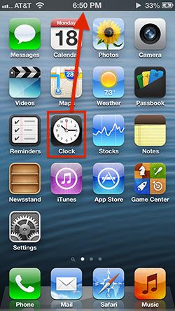 App del reloj nativo en iOS 6